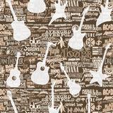 Adesivo De Parede Adolescente Rock Guitarra 3.00 Met