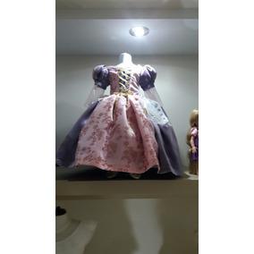 Vestido Disfraz Princesa Rapunzel Con Zapatos, Envio Gratis