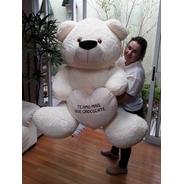 Urso Creme Enorme Gigante 1,30 Mts 130cm Supreenda Quem Ama