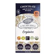 Chocolate 70% Orgánico Cacao Soul Barra 100g S/gluten S/lech