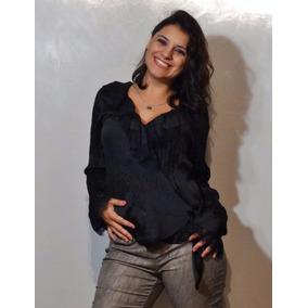 Blusa De Seda Diseño Bruja Cruzada, Made In Usa, Nueva!