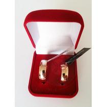 Rommanel Par Aliança Folheada Ouro 18k Certificado 511618 P.