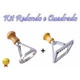 Cortador De Ravioli Redondo + Quadrado Massa Pastel Alumínio