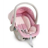 Kit Bebê Conforto Cocoon Rosa Bebê Com Base Galzerano