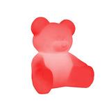 Luminária Abajur Ursinho Vermelho Quarto Menino Menina