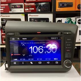 Kit Multimidia Aikon Honda Civic 2012/2014 Cinza Android/ios