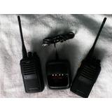 Radios Trasmisores Dos Unidades Con Su Respectivo Cargador