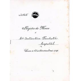 Cia Antarctica Paulista - Registro Vinho De Gengibre - 1914