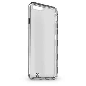 Capa Híbrida Para Iphone 6 / 6s/ 7 Plus Gatche Chrome Fumê