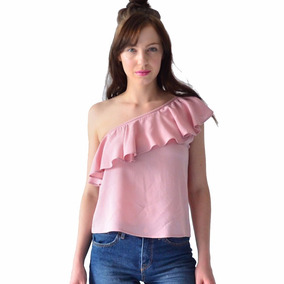 Blusa Mujer Rack & Pack Casual Asimétrica Color Rosa