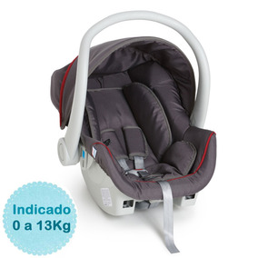 Bebê Conforto Cocoon Grafite/vermelho 8181grv - Galzerano