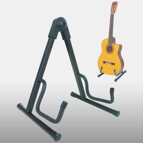 Suporte De Chão Para Guitarra Violão Contra Baixo Vector