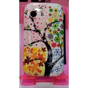 Funda Flip Cover Plastico Para Samsung Galaxy Young Flores