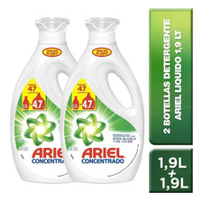 Pack 2 Botella Detergente Concentrado Ariel Regular  1,9 Lt