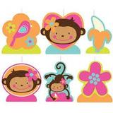 Monkey Love Set De Velas Moldeada 6 Pzas