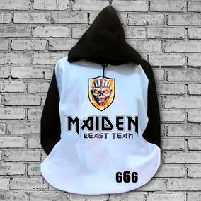 Moletom - Iron Maidem 666 - Casaco Blusa Rock Heavy Metal