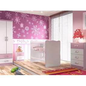 Dormitorio Infantil Cuna+ropero+comoda+mesa De Luz Sensacion
