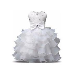 Vestido Infantil Daminha Honra Casamento Batizado P Entrega!