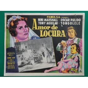 Tongolele Amor De Locura Oscar Orig Pulido Cartel De Cine