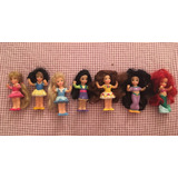 Set Muñecas Mini Princesas Disney Usadas Impecables!!