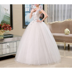 Vestido Casamento Romântico Vintage No Estilo Noiva Princesa