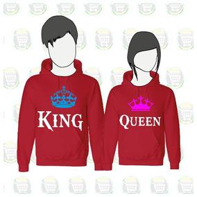 Playeras Para Novios King Queen - Ropa y Accesorios Rojo en Mercado ... 4b64afd6d34e0
