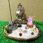 Buda Hindu Cristais - Jardim Zen Meditação - Incensário Led