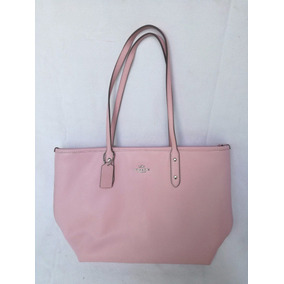Coach Pink Handbag Bolsa De Mano Rosa