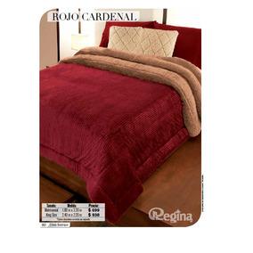 Cobertor Matrimonial Regina Modelo Rojo Cardenal