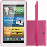 Tablet Multilaser M7 Nb164 Rosa Tela Hd 7 8gb 3g Dual Chip