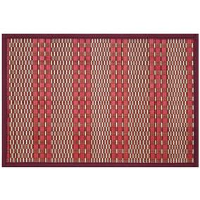 Mantel Individual Bamboo Tejido Rojo Sm-426141 Namaro Design