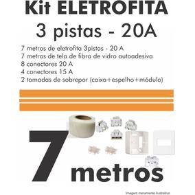 Eletrofita 3 Pistas (20 A): 7metros + 2 Tomadas De Sobrepor