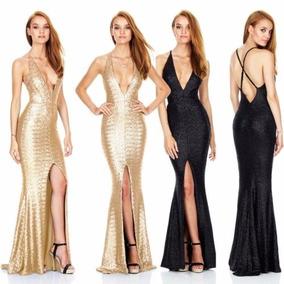 Vestido De Gala Con Lentejuelas |por Encargue - Importado|