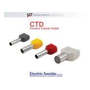 Terminales Puntera Doble Hueca 1.5mm Tiff Ctd Pack X 100 Lct
