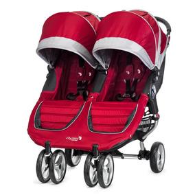 Carriola City Mini Double Rojo Con Gris Baby Jogger