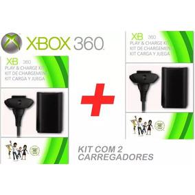 Kit 2 Baterias Carregador Controle Xbox 360 Pronta Entrega