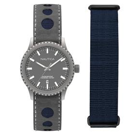 Reloj Nautica Nms 02 Date Box Set Para Caballero-nad14532g