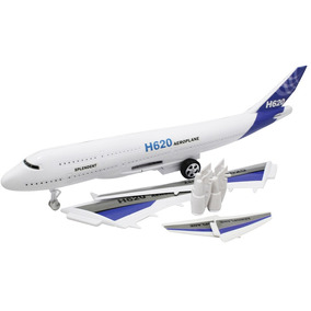 Avião Brinquedo Decoração Com Led E Fricção - L713pj
