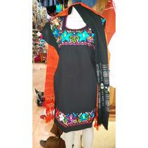 Fino Vestido De Manta Elaborado En Chiapas