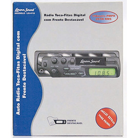 Radio Toca Fitas Digital C/ Frente Destacavel Lenoxx Lx-410