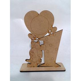 Portaretratos Minnie Y Mickey Bebes En Fibrofacil Pack X10