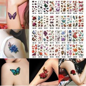 Kit 4 Cartelas (+- 40 Tatuagem Tattoo) Frete Grátis