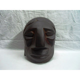 Escultura Cabeza Madera Maciza Indeginismo Jorge Accame(2562
