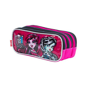 Estojo Monster High 3 Compartimentos - Sestini
