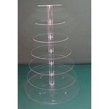 Alquiler Torre Cupcakes 7 Pisos Acrilico - 65cm Alto