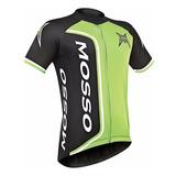 Camisa Bike Ciclismo Masculina Mosso Preto Verde Kawasaki P