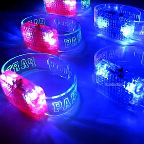 Pulseras Luminosas Audioritmicas Luz Led Fiesta Rave Boda An