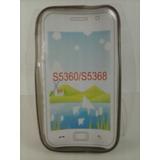 Capa Tpu Diamantada Preto Fume Galaxy Y Gt S5360 S5368