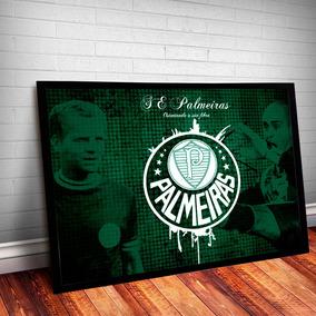 Poster Quadro Palmeiras Palestra Moldura E Vidro 45x35cm #5