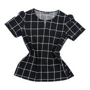 Blusa Xadrez Grid Viscose Conforto Moda Feminina Evangélica